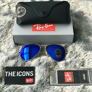 BLUE RAY-BAN AVIATOR 100% AUTHENTIC